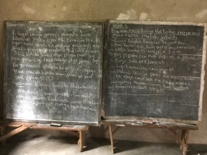 Local Bible School Chalkboard Notes